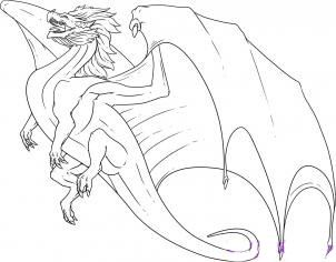 we draw the flying dragon step by step
