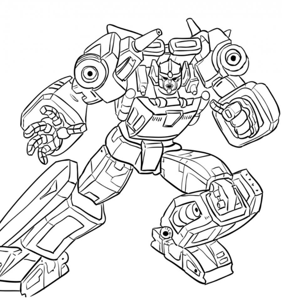 How to draw a transformer Shokveyva with a pencil step by step 11