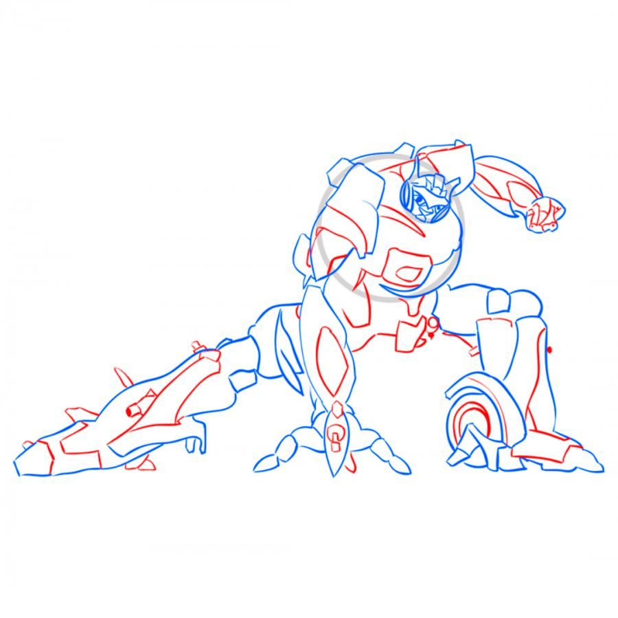 How to draw Optimus Prime's transformer with a pencil 8