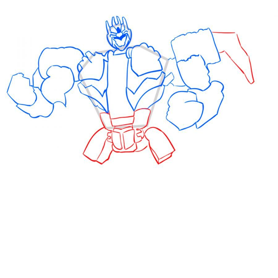 How to draw Dzhetfayer's transformer with a pencil step by step 7