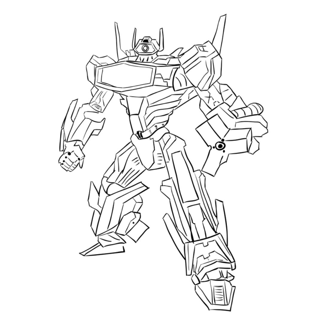 How to draw a transformer Shokveyva with a pencil step by step