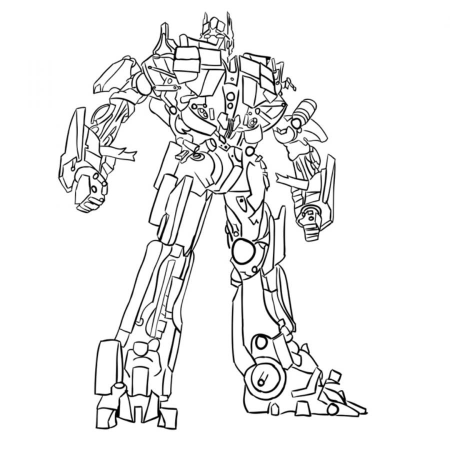 How to draw Optimus Prime's transformer with a pencil