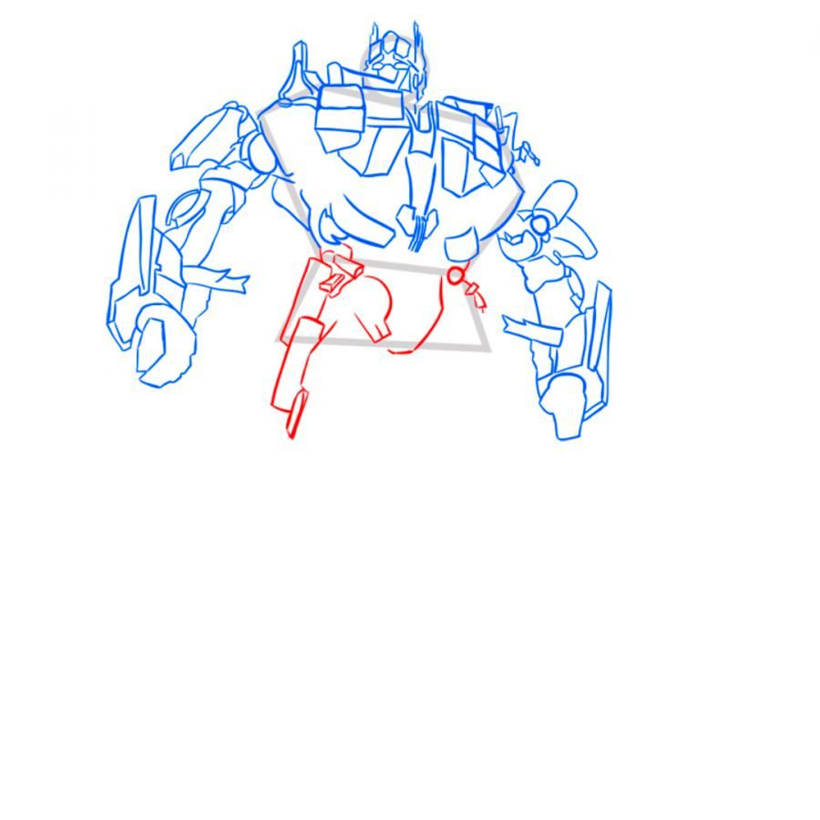 How to draw Grimlok's transformer with a pencil step by step 9