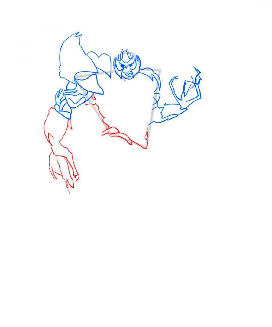 How to draw Galvatron's transformer step by step 6
