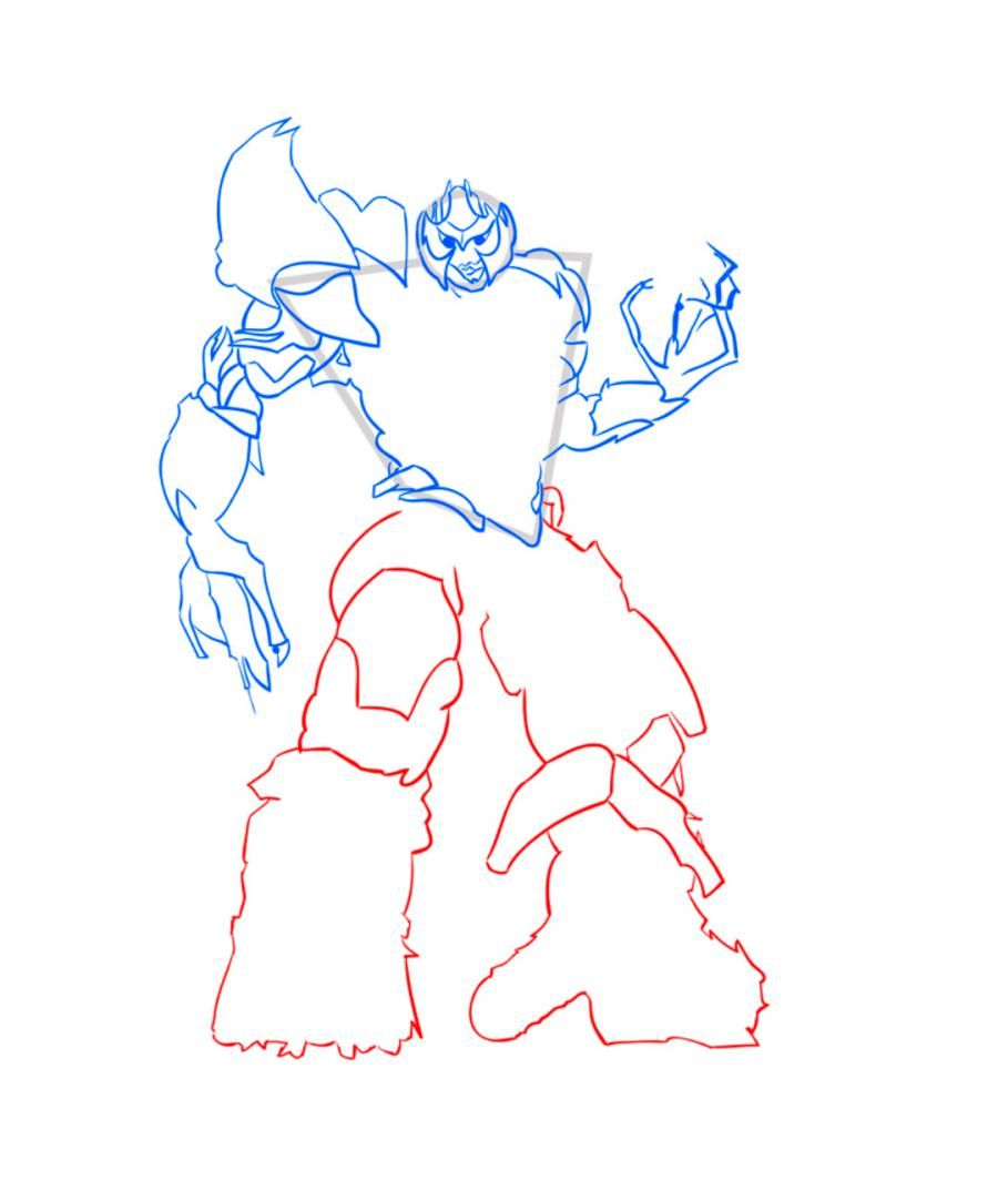 How to draw Galvatron's transformer step by step 7