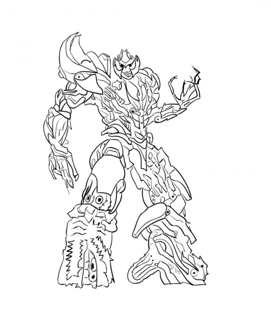 How to draw Galvatron's transformer step by step 10