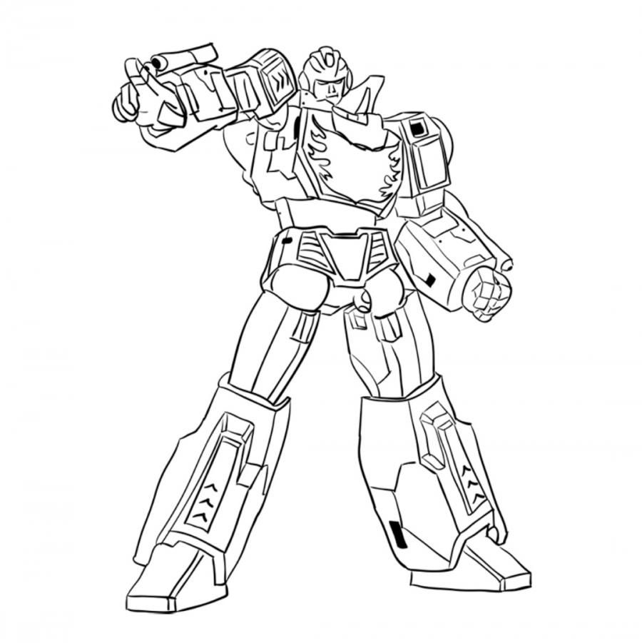 How to draw a transformer of Jotas of Rod (Hotrod) with a pencil step by step