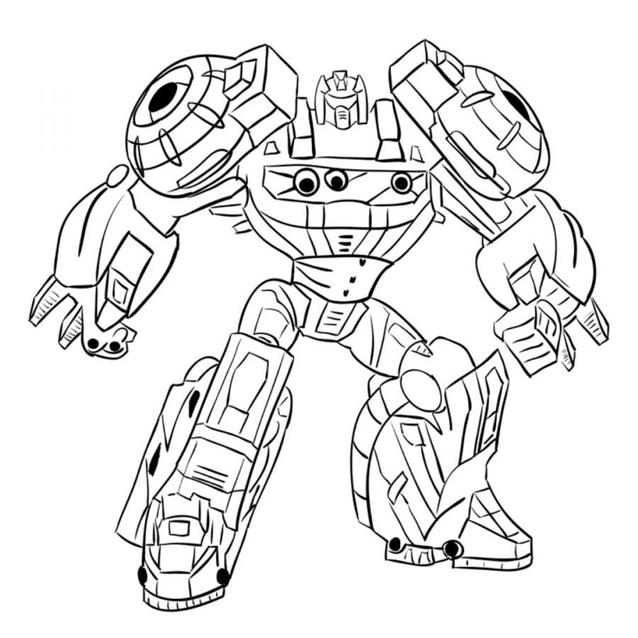 How to draw Grimlok's transformer with a pencil step by step
