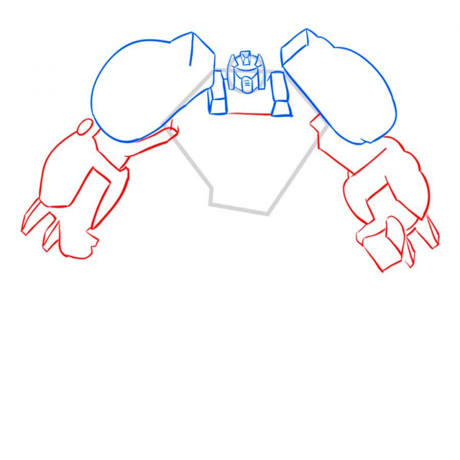 How to draw a transformer on paper with a pencil 6