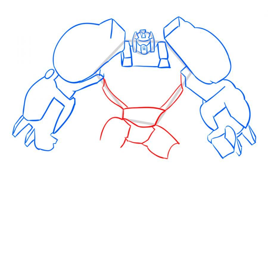 How to draw a transformer on paper with a pencil 7