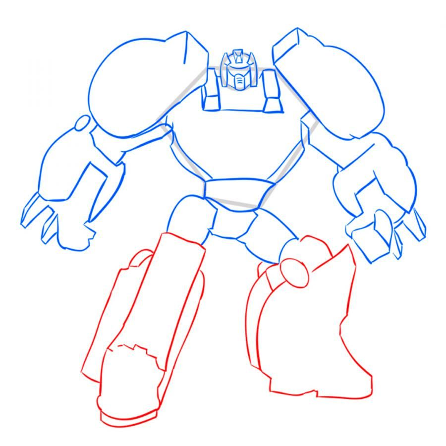How to draw a transformer on paper with a pencil 8