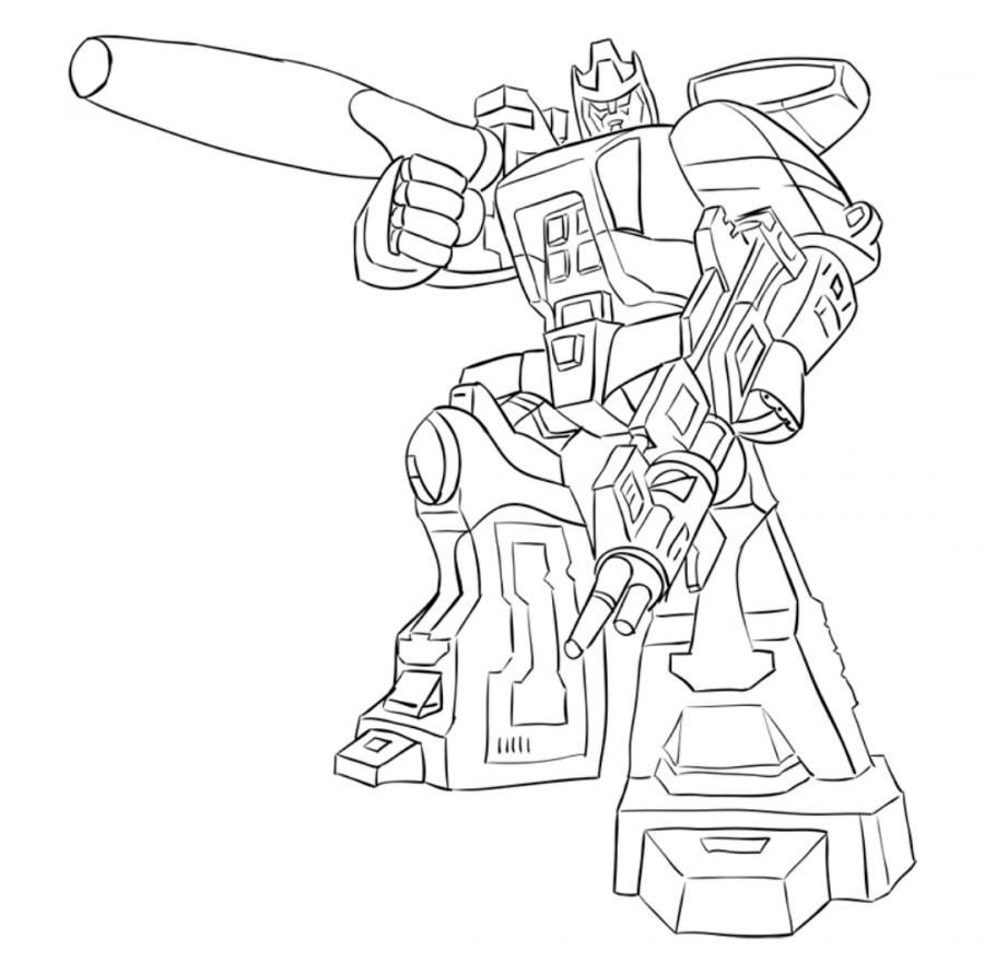 How to draw Galvatron's transformer step by step