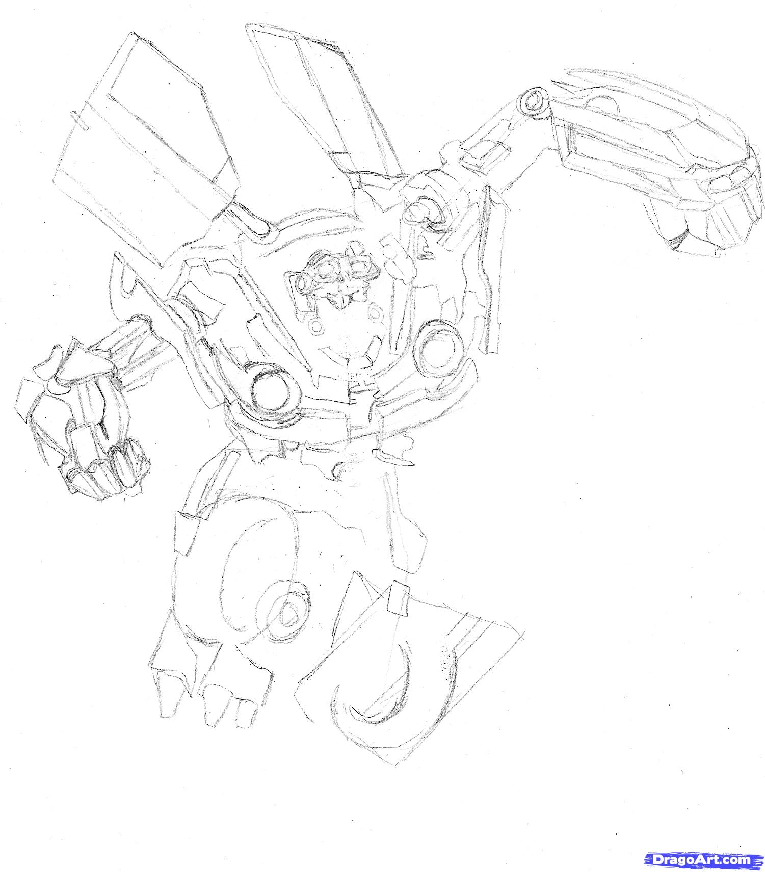 How to draw Megatron with a pencil step by step 6