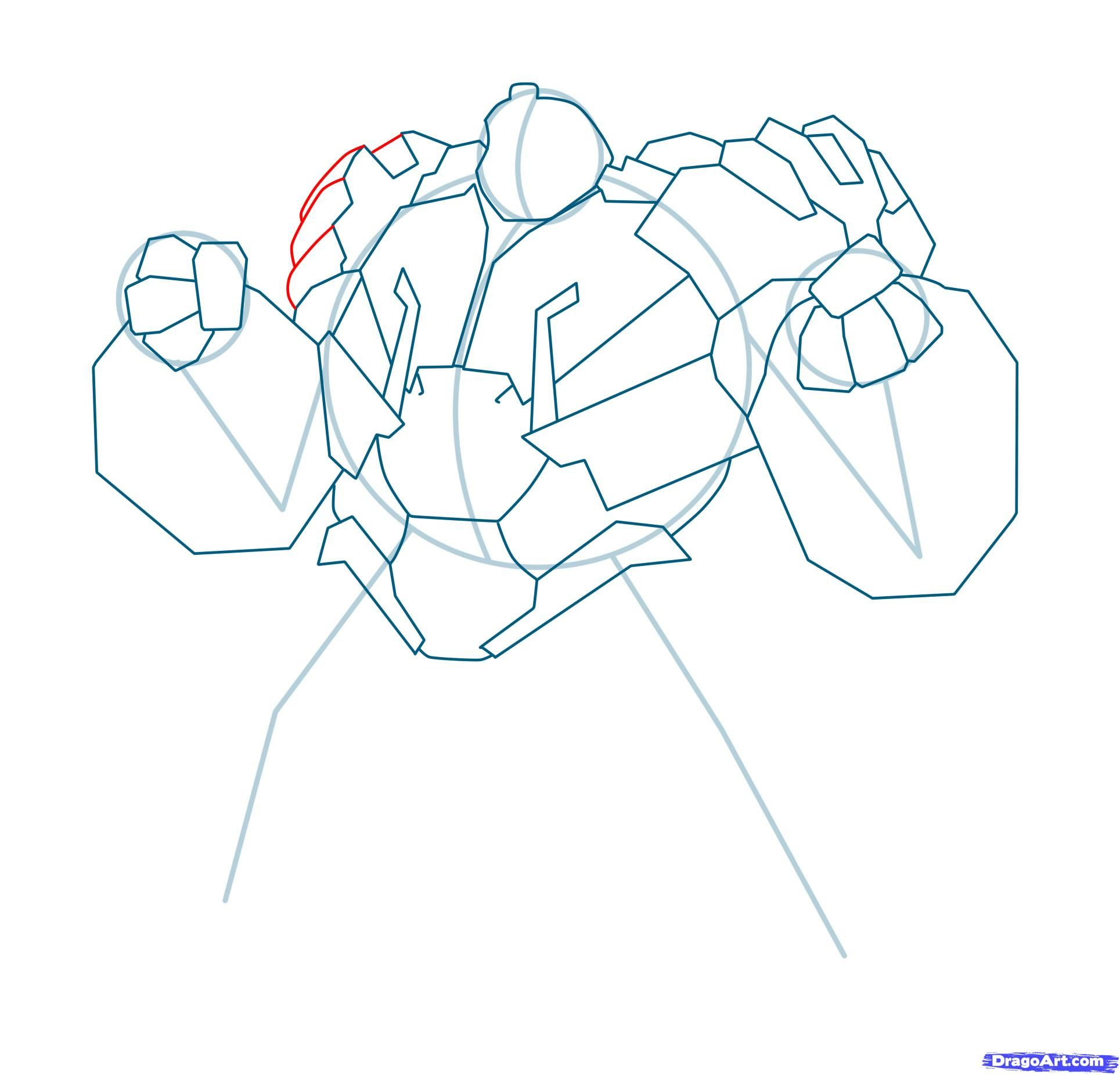 How to draw Megatron with a pencil step by step 11