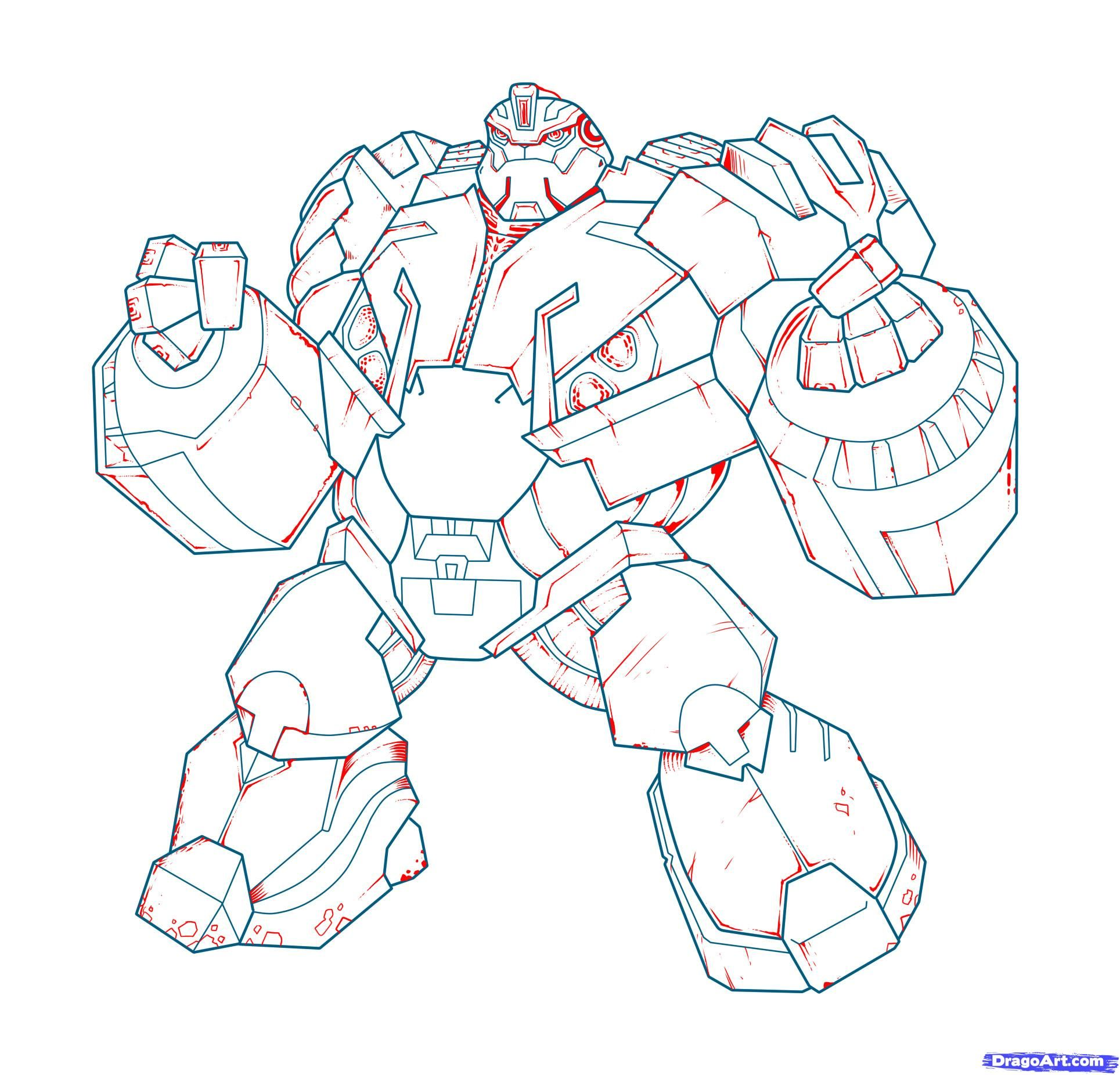 How to draw Megatron with a pencil step by step 19