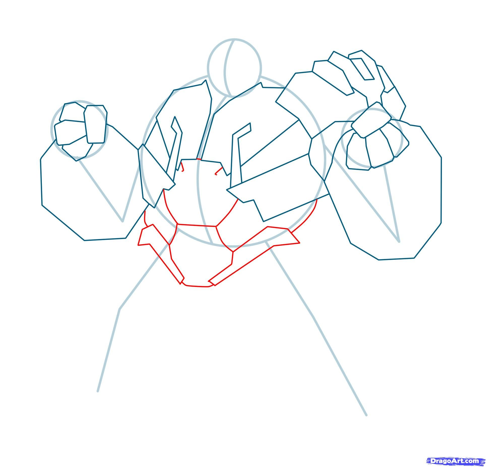 How to draw Megatron with a pencil step by step 9