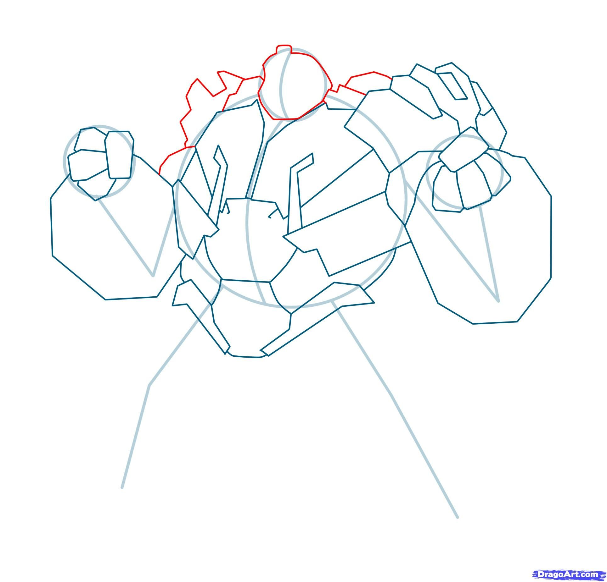 How to draw Megatron with a pencil step by step 10