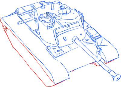 How to draw the average German Pz.Kpfw III tank with a simple pencil 11