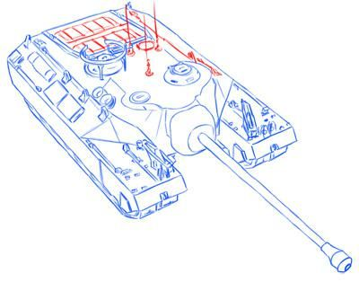 How to draw the easy German Pz.Kpfw tank. II simple pencil 11