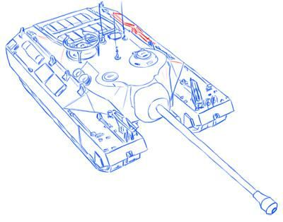 How to draw the easy German Pz.Kpfw tank. II simple pencil 12