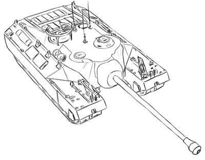 How to draw the American T-95 tank with a simple pencil