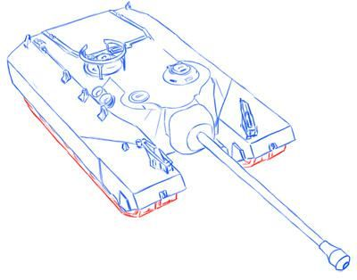 How to draw the easy German Pz.Kpfw tank. II simple pencil 9
