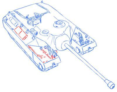 How to draw the easy German Pz.Kpfw tank. II simple pencil 10
