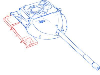 How to draw the German self-propelled and artillery StuG III installation 6