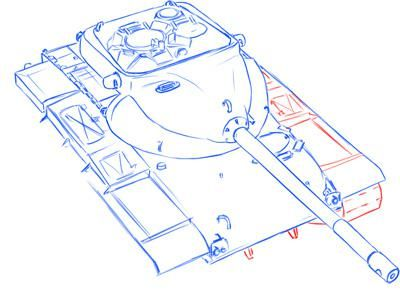How to draw the German self-propelled and artillery StuG III installation 8