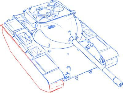 How to draw the German self-propelled and artillery StuG III installation 9