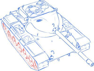 How to draw the German self-propelled and artillery StuG III installation 10