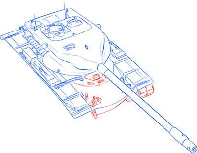 How to draw the German heavy tank the Tiger with a simple pencil 11