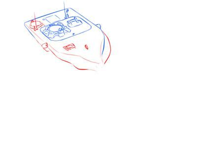 How to draw the German heavy tank the Tiger with a simple pencil 5