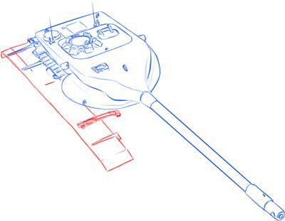 How to draw the German heavy tank the Tiger with a simple pencil 8