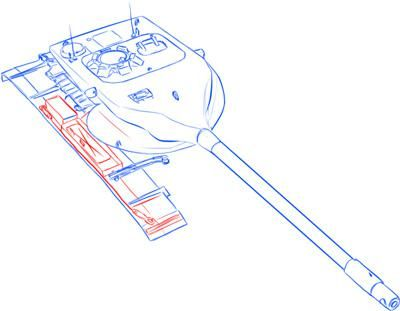 How to draw the German heavy tank the Tiger with a simple pencil 9
