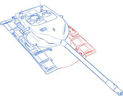 How to draw the German heavy tank the Tiger with a simple pencil 10