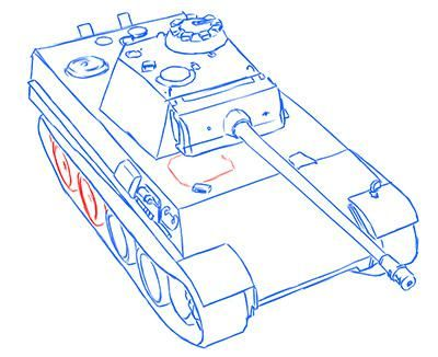 How to draw the British PT-SAU AT-8 with a simple pencil step by step 13