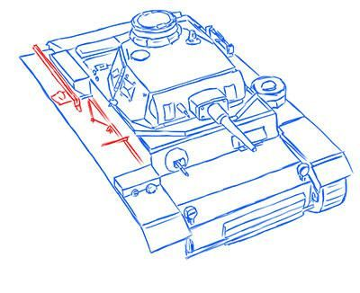 How to draw the superheavy tank the Mouse with a simple pencil step by step 13
