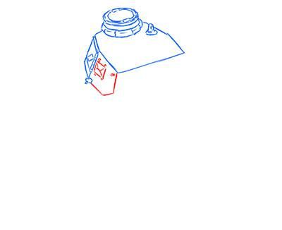 How to draw the superheavy tank the Mouse with a simple pencil step by step 4