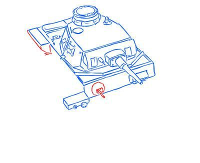 How to draw the superheavy tank the Mouse with a simple pencil step by step 10