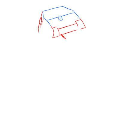 How to draw the prospecting German VK 1602 tank with a pencil 3