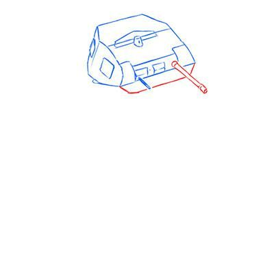 How to draw the prospecting German VK 1602 tank with a pencil 4