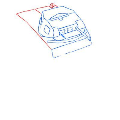 How to draw the prospecting German VK 1602 tank with a pencil 5