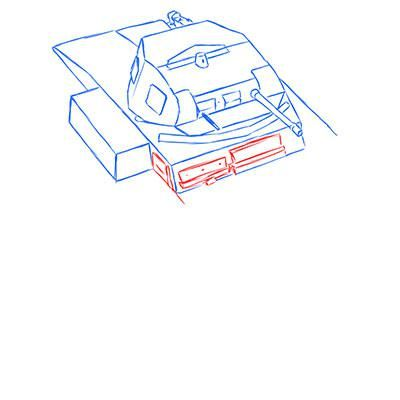How to draw the prospecting German VK 1602 tank with a pencil 6