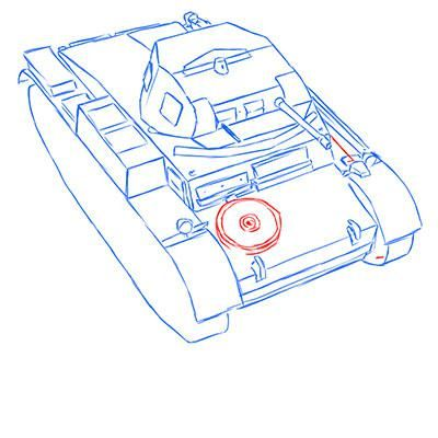 How to draw the prospecting German VK 1602 tank with a pencil 9