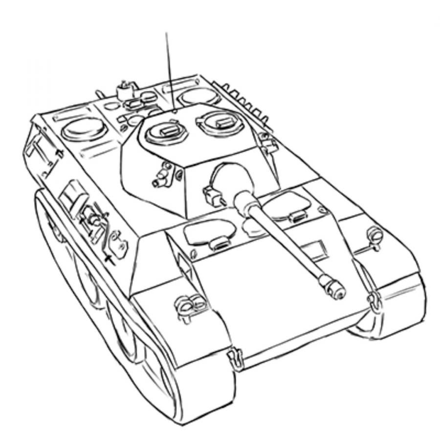 How to draw the Soviet heavy KV-2 tank with a pencil step by step 18