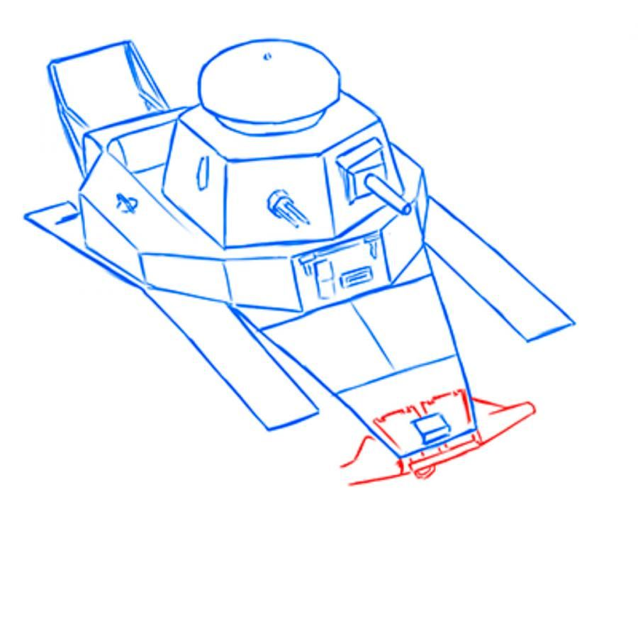 We learn to draw step by step the helicopter a pencil 14