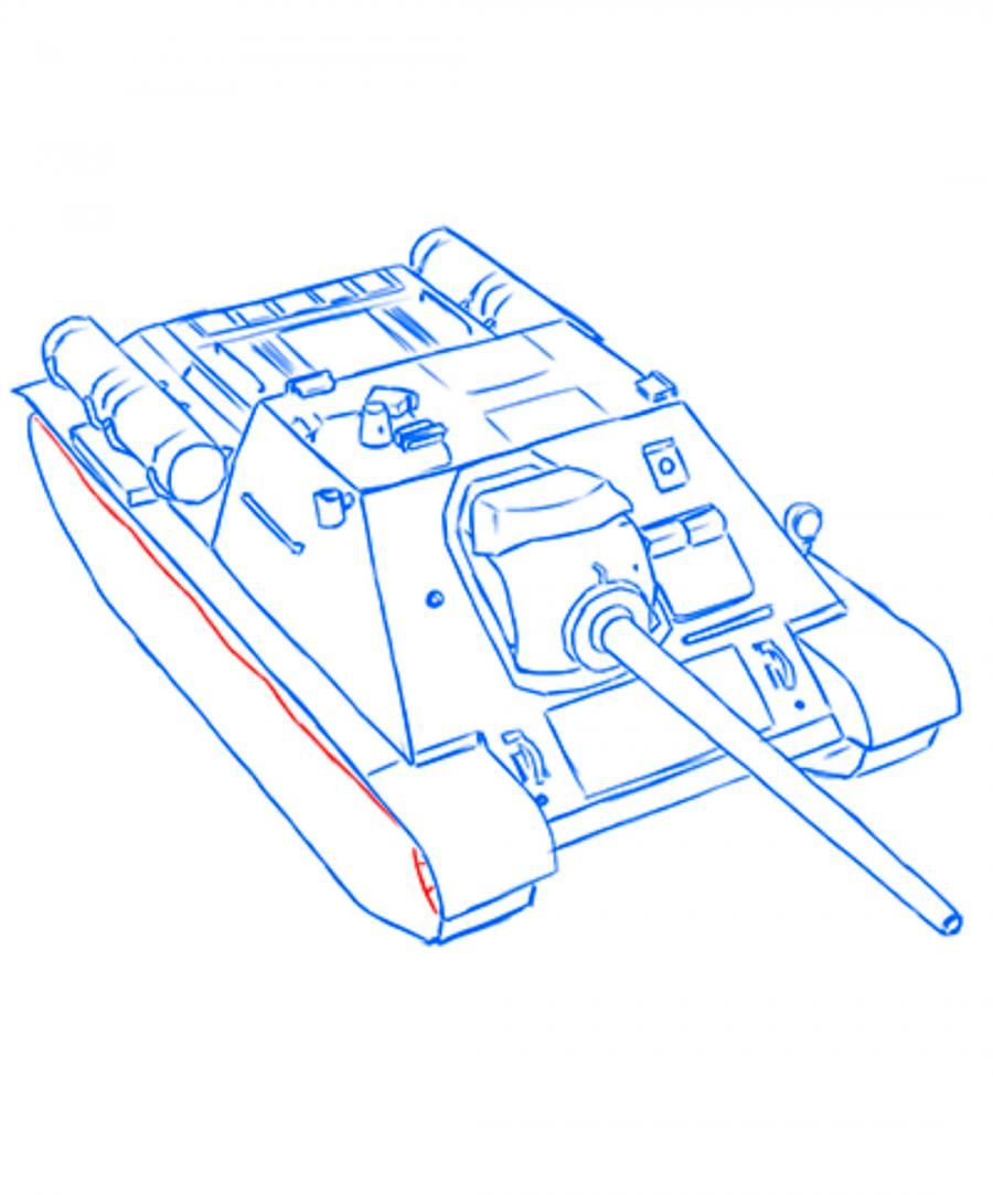 How to draw the Bomber Junkers with JU-87B a pencil 12