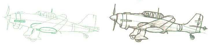 How to draw the Bomber Junkers with JU-87B a pencil