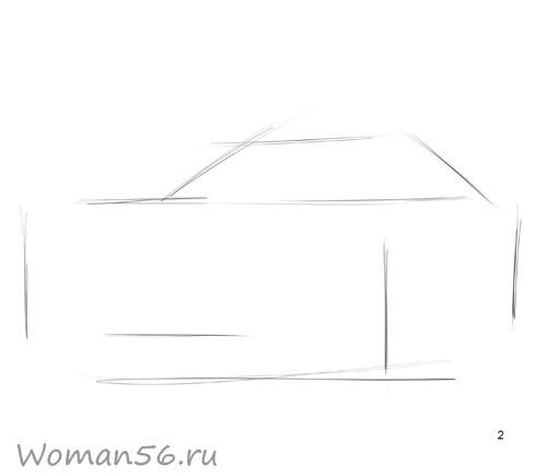 How to draw the Mitsubishi Pajero Pinin car with a pencil step by step 2